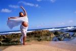 pregnant beach dance